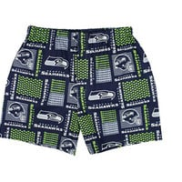 Men Seattle Seahawks Boxers Shorts; Seahawks NFL Clothing; Green, White and Blue Boxers Shorts, Briefs, Men Underwear