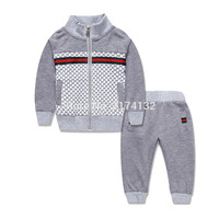 2016 winter and autumn fashion brand design 1-6 year baby boys & children clothing sets fashion jackets + pants girls tracksuits