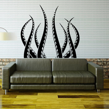 Kraken Octopus Wall Decal Tentacles Wall Decals Sea Ocean Animal Wall Decor- Living Room Kids Bedroom Bathroom Wall Art Home Decor 0056