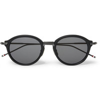 Thom Browne - Round-Frame Acetate And Titanium Sunglasses | MR PORTER