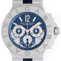 Bulgari Diagono Men's Stainless Steel Chronograph Watch