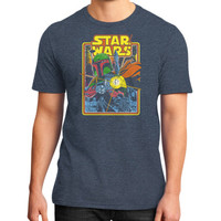 Boba Fett Fires star war District T-Shirt (on man)