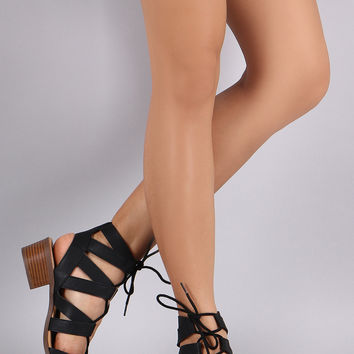 City Classified Strappy Lace Up Sandal