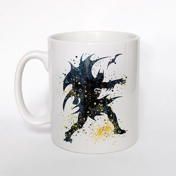 Batman 2 Mug Watercolor Art Cup Coffee Mug Batman Cup Tea Mug Birthday Gift Coffee Cup Batman Art Batman Art Mug Christmas Gift