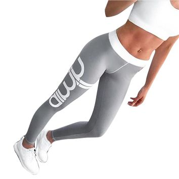2017 Sexy Casual Womens Workout Leggings For Joggers Fitness Legging High Waist Elastic Sporting Leggins Workout Jegging Legging