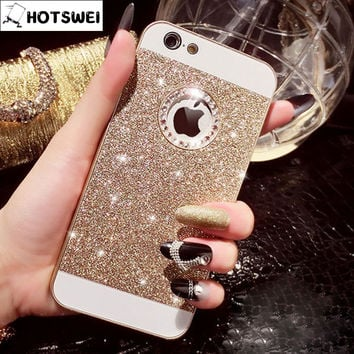 Bling Hard Case for iPhone 5s 5 4s 4 Luxury Gold Silver Fashion Glitter Rhinestone Mobile Phone Cover Cases for iPhone5 s apple