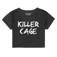 Killer Cage-Female Heather Onyx T-Shirt