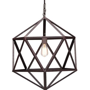 Angular Amethyst Ceiling Lamp Small