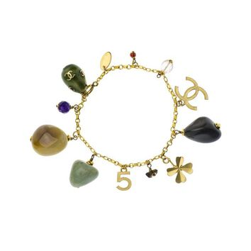 Pre-owned Chanel Vintage Natural Stone Charm Bracelet