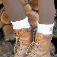 Braided Button Boot Cuffs