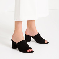HIGH - HEEL BACKLESS SANDALS-View all-SHOES-WOMAN | ZARA United Kingdom
