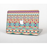The Tan & Teal Aztec Pattern V4 Skin Set for the Apple MacBook Air 11""