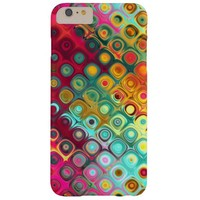 Tropical red multicolor liquid rainbow funky barely there iPhone 6 plus case