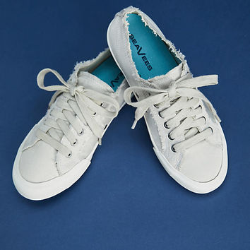 SeaVees Monterey Satin Frayed Sneakers