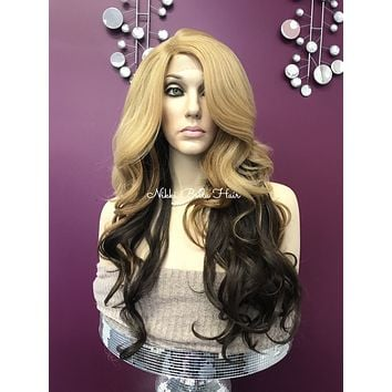 Blond ombre lace front wig | FABIOLA