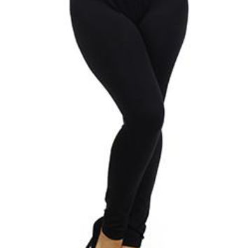 Solid Color Basic Leggings Size XL