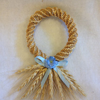 Kansas wheat straw art wall hanging, wheat decorations