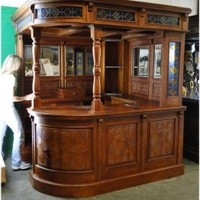 Hand Carved Solid Mahogany Corner Canopy Bar Furniture Corner Bar Furniture Cabinet antique old vintage home bar furniture [antique mahogany corner bar] - $5,795.00 : The Kings Bay, Home Bar Furniture