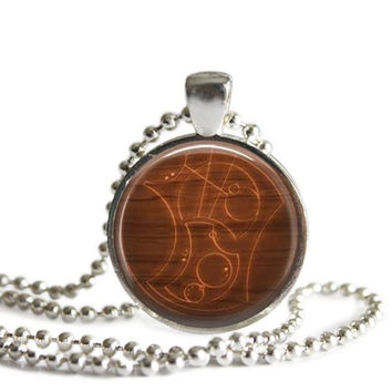 Doctor Who Time Lord Gallifreyan Necklace