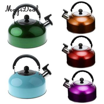 DCCKUH3 MagiDeal Anti-Hot/Slip Whistling Tea Kettle Gas Stove 3L Stainless Steel Tea Kettle Water Bottle for Home Camping Hiking Travel