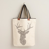 Stag Tote with Striped Handle - World Market