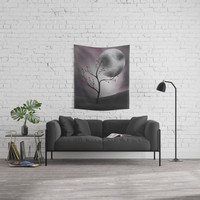 Midnight Peach Wall Tapestry by alishadawn