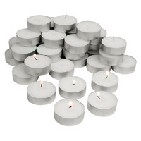 Evelots® 36 Piece Wax Tea Light Candle Set With 4 Hours Lifetime, Ivory