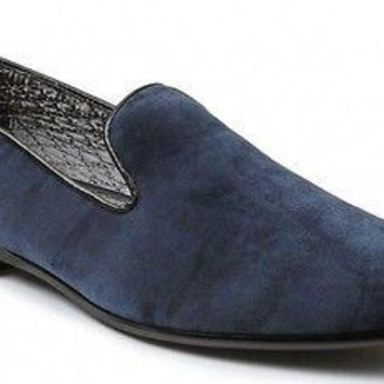 New Giorgio Brutini Cress Navy Velvet Slip-On men's Shoes