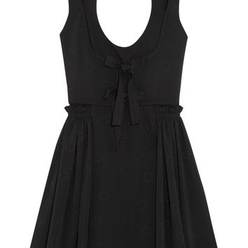 Jacquard mini dress with pleated skirt | GIVENCHY | Sale up to 70% off | THE OUTNET