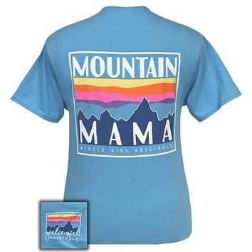 Girlie Girl Preppy Mountain Mama T-Shirt