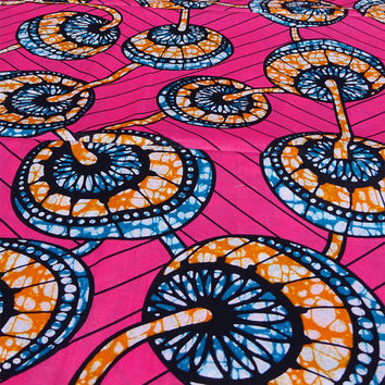 African fabric Pink African print fabric by the yard African fabric by the Yard Ankara fabric Ankara fabric by the yard African materials