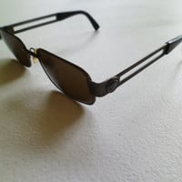 Vintage Versace Men's Medusa Heads Greek Key Sunglasses