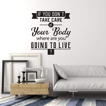 Vinyl Wall Decal Healthy Quote Spa Salon Gym Medical Office Interior Stickers Mural (ig5742)