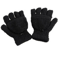 Guantes de invierno de la mujer Women Fingerless Gloves Girls Half Finger Flip Knitted Mittens gloves women GS