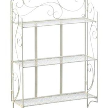 Cast Iron Scrollwork Display Wall Shelf