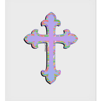 "Easter Color Cross 9 x 10.5"" Rectangular Static Wall Cling"