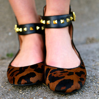 "Jessica Simpson ""Munney"" in Leopard {Flats}"
