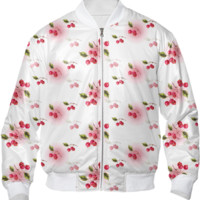 cherry bomber jacket created by GossipRag | Print All Over Me