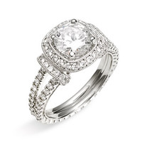 Jack Kelége 'Romance' Cushion Set Diamond Semi Mount Ring | Nordstrom