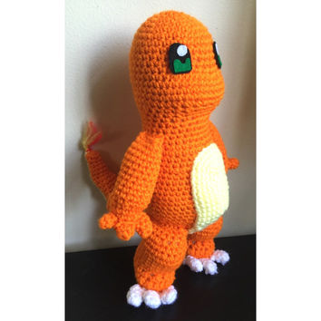 Charmander Pokemon Inspired Crocheted Plush