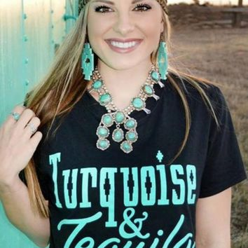 Turquoise Tee by Crazy Train