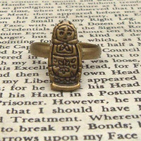 Russian dolls Adjustable Brass Ring