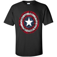 Marvel Captain America Avengers Shield Comic Graphic T-Shirt shirt