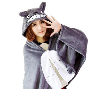 Totoro Cosplay Cape Soft Plush Blanket