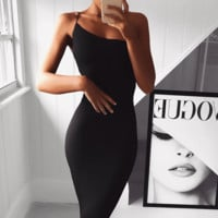 Upgraded You One Strap Bandage Dress