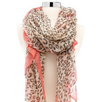 Solid Trim Leopard Scarf: Charlotte Russe