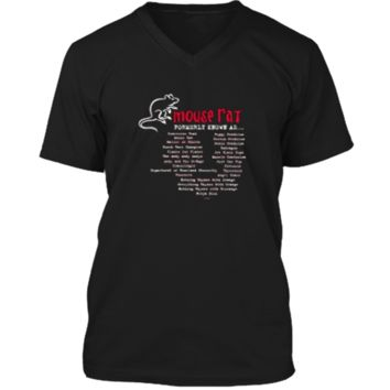 Parks and Recreation Mouse Rat Formerly Known As T-Shirt Mens Printed V-Neck T