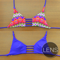 LENS - Handmade Reversible Triangle Strap Top