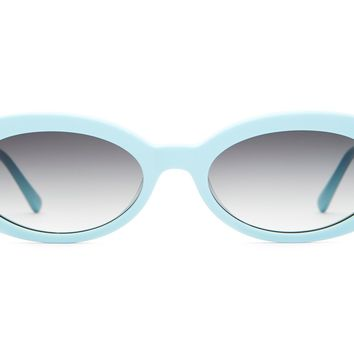Crap Eyewear - Sweet Leaf Sky Blue Sunglasses / Grey Gradient Lenses