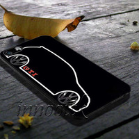 VW GTI MkV Silhouette Cover iPhone 5/5S/5C/4/4S, Samsung Galaxy S3/S4/S5, iPod Touch 4/5, htc One X/x+/S Case